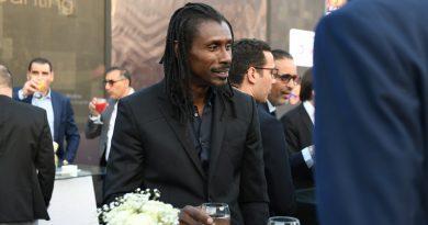 Aliou Cissé à la cérémonie du Tirage au sort en Egypte
