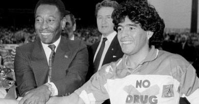 Pelé et Maradona, ici à Paris en 1988