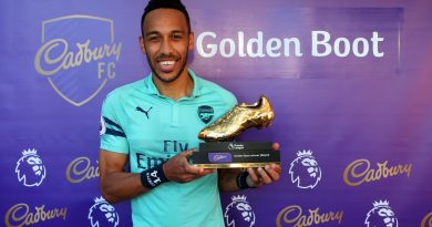 Pierre-Emerick Aubameyang meilleur buteur de Premier League