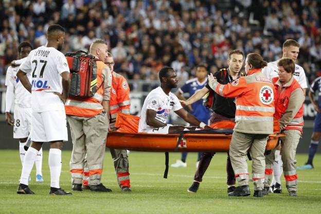 Moussa Konaté a dû quitter le terrain