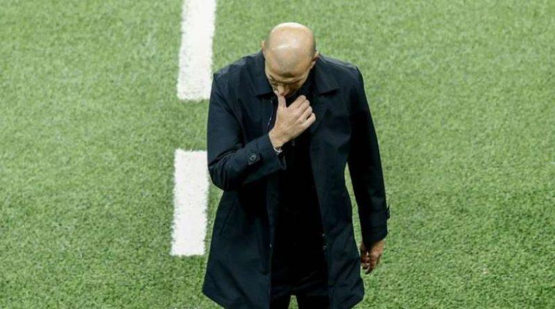 Zinedine Zidane lors de la rencontre entre le PSG et le Real Madrid en Ligue des Champions