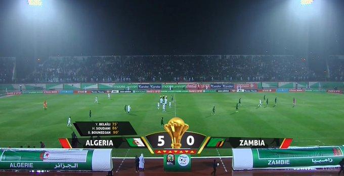 Algérie 5-0 Zambie