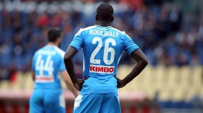 Kalidou Koulibaly lors de la rencontre entre l'AS Roma et le Napoli