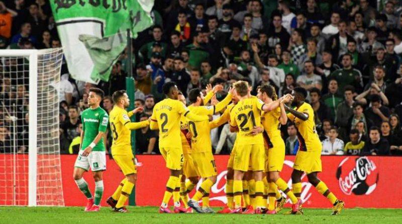Le Barça a souffert mais a battu le Betis