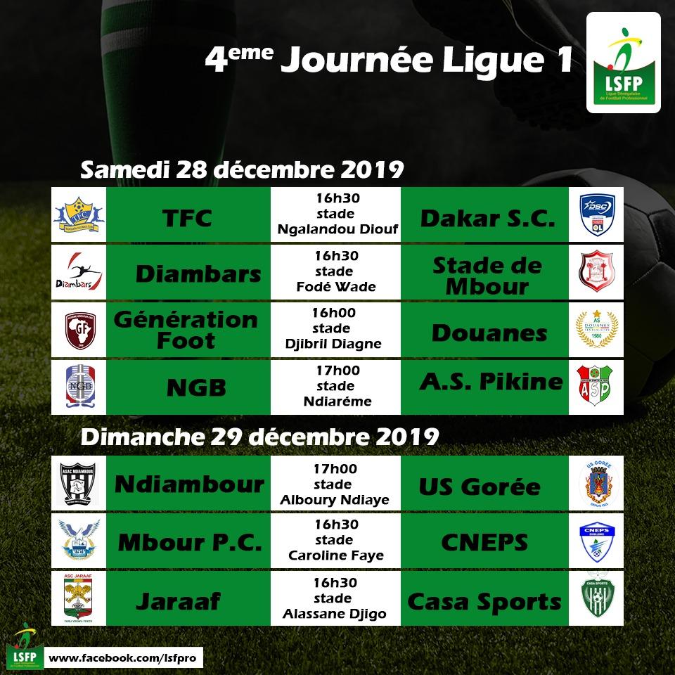 4e j ligue 1 senegal 2019