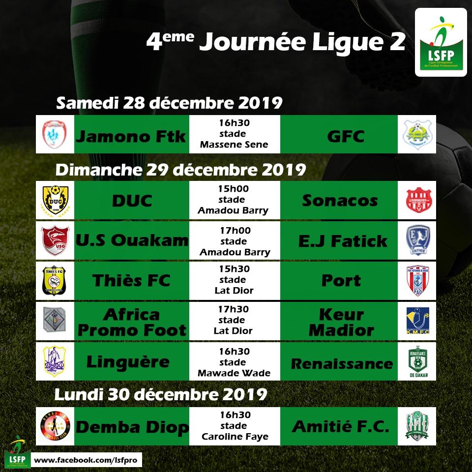 4e j ligue 2 senegal 2019